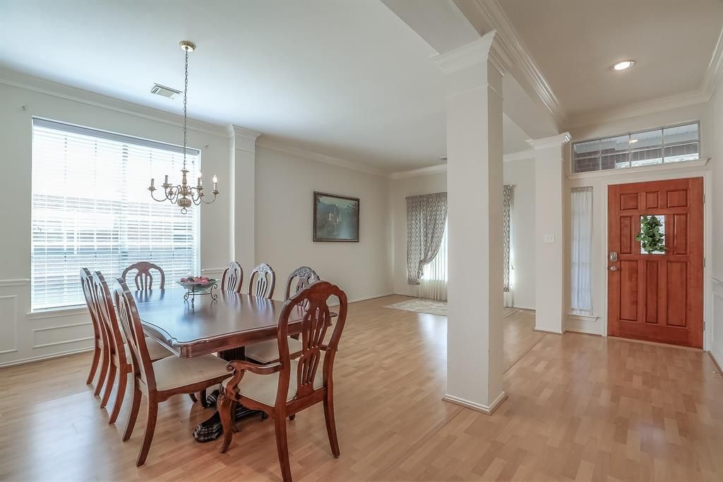 Entry Way, Living and Dining area is very open and airy.