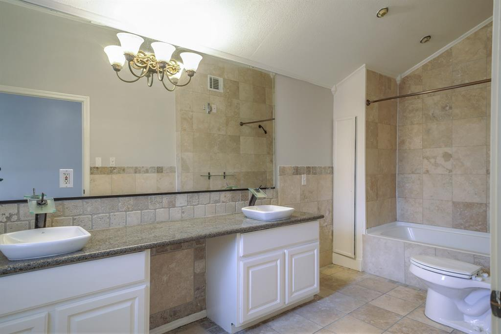 Master Bath - Dual sinks and ample space.