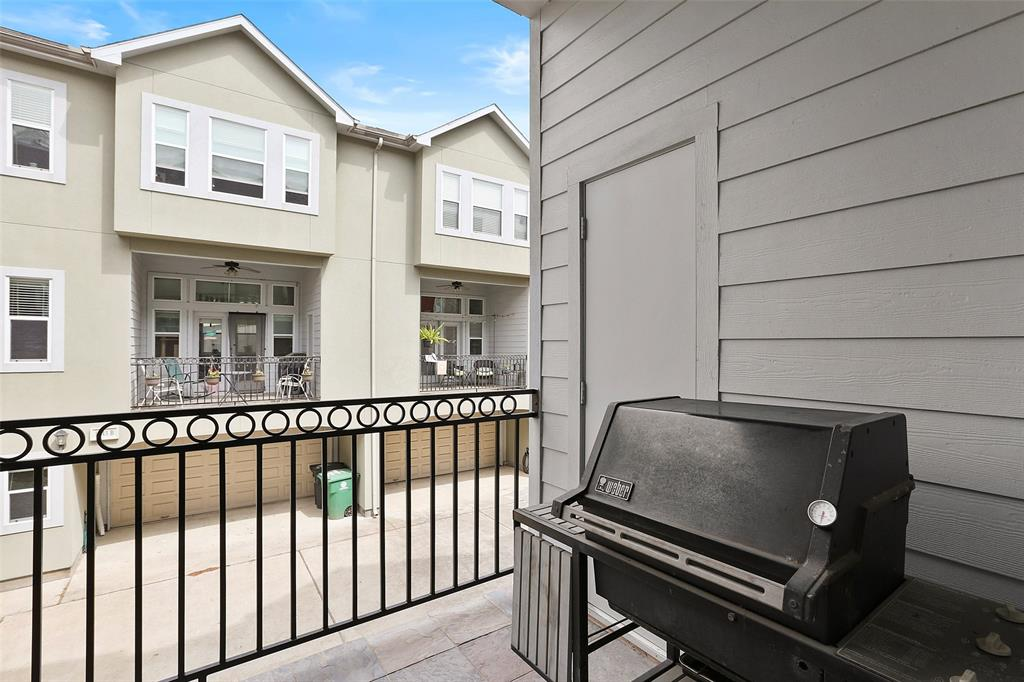 Located just off the main living floor and the same floor as the kitchen, you will find this generously sized balcony.  The balcony will make for a great space to have your morning coffee or conveniently grill some delicious meats & veggies on the weekend.