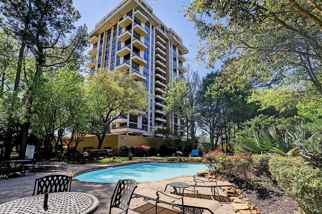 Rare opportunity to live in the ONLY high rise in Northwest Houston/Spring/Cypress area. Nestled way above the treetops on the 10th floor, this 3 bedroom, 3 full bath unit has absolutely stunning panoramic views of the south and west and even Downtown Houston on a clear day. Located in the prestigious Champions Forest area with low tax rates, right next to the gorgeous Raveneaux Country Club and golf course and minutes from Meyer Park. Freshly painted with new carpeting, this lovely condo is ready for your personal touches. Beautiful open living/dining layout makes it easy to entertain. This one of a kind high rise offers 24 hour monitored access and concierge, gym, outdoor tennis courts, pool, secured covered parking, and party room with kitchen. Easy access to highway 249 and located nearby countless restaurants, shopping, entertainment and more at Vintage Park, Champions Forest, and along the bustling Willowbrook 1960 area.
