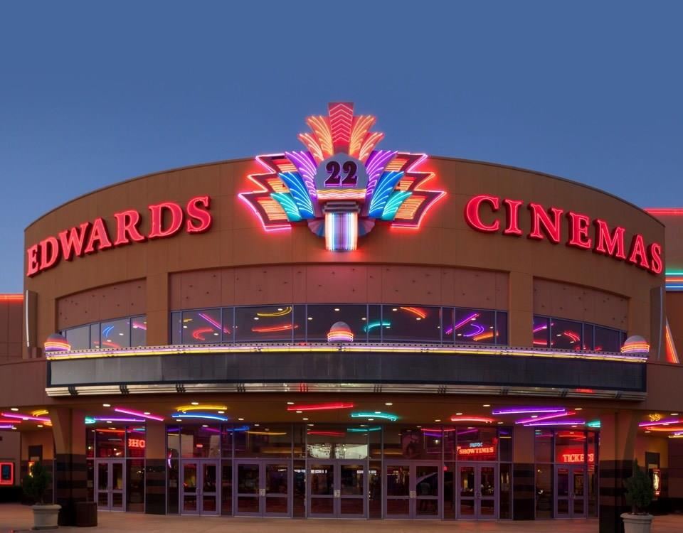 The Edwards Cinemas is also located in the Marque Entertainment Center.