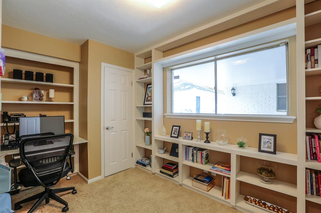 Bedroom # 4 is currently being used as a study and offers great flexibility.