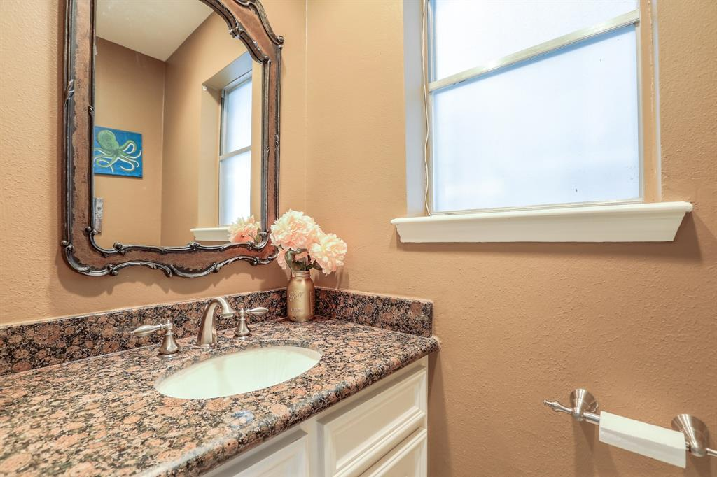 Half bath is perfect for guests.