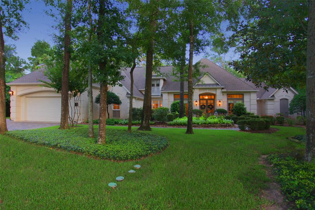 "Astonishingly beautiful!Featured in ""The Woodlands Lifestyles and Homes"" June, 2018, this home in sought-after West Isle, upfront and convenient to everything & sits on a tree-studded, extensively landscaped 1/2 acre with pond view, wooded reserve and access to Lake Woodlands.Completely remodeled by prominent builder, Mary Ross, in 2017 for her personal home but purchased by current owner!Style, quality & location!Du Chateau Chalet 9"" wide plank hardwood floors thru-out!Extensive mill work!Walls of arched windows!Soaring ceilings!Kitchen w/over-sized island!Calacatta marble tops all cabinetry thru-out!Stainless Thermador appliances! Adorable butler's pantry & laundry room! Two-story family room!Master suite is a vision w/octagonal wood ceiling & bath w/2 CUSTOM CLOSETS!Super space!2nd suite down could be 2nd master!3 ensuites and a media/game room up!Gorgeous!Savant home automation!3-car attached garage!Covered porch!2018 pool/spa has paramount self- cleaning!Paradise!Peace!Private!"