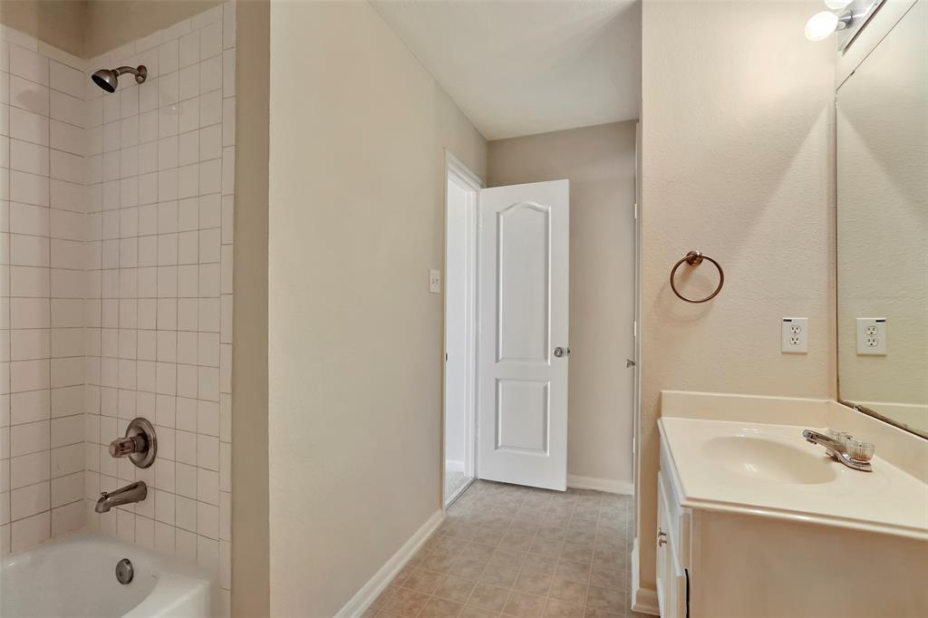 Second bathroom is located on second floor near first and second bedroom.