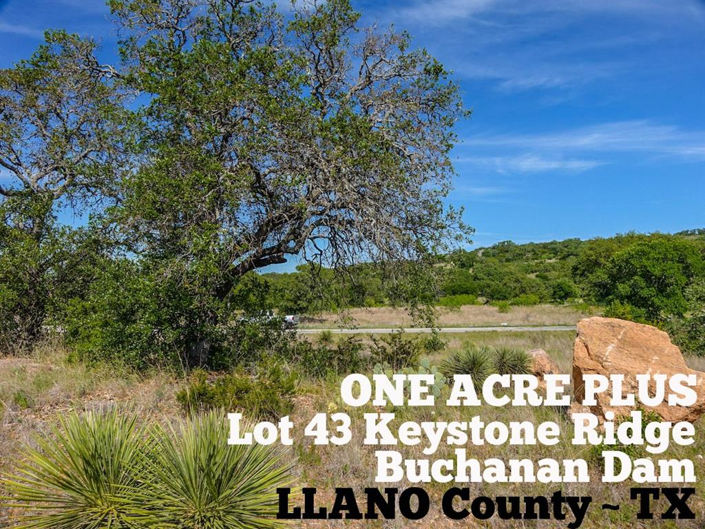 Lot 43 Keystone Ridge, Buchanan Dam, TX 78609