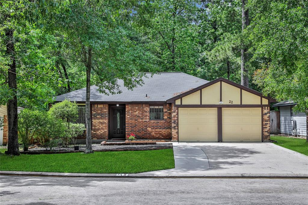 Nestled on a wooded cul de sac lot with no rear neighbors , this immaculate 3 bedrm / 2 bath home is high and dry from all previous floods ! Kitchen and bathrooms are updated as well as wood look tile flooring, ceiling fans, lighting, roof ( 2013)  hot water heater (2016 ), HVAC  (2018) and furnace (2019). Interior has recently been painted and is ready for an easy turn key buyer! Backyard is fully fenced with an extended patio ! Tulip Hill is located only minutes from I 45 , Hardy Toll Rd , Grand Parkway , parks , restaurants , schools, churches and all that the upfront Woodlands location and has to offer ! Low 2.36 tax rate for a great life style value !