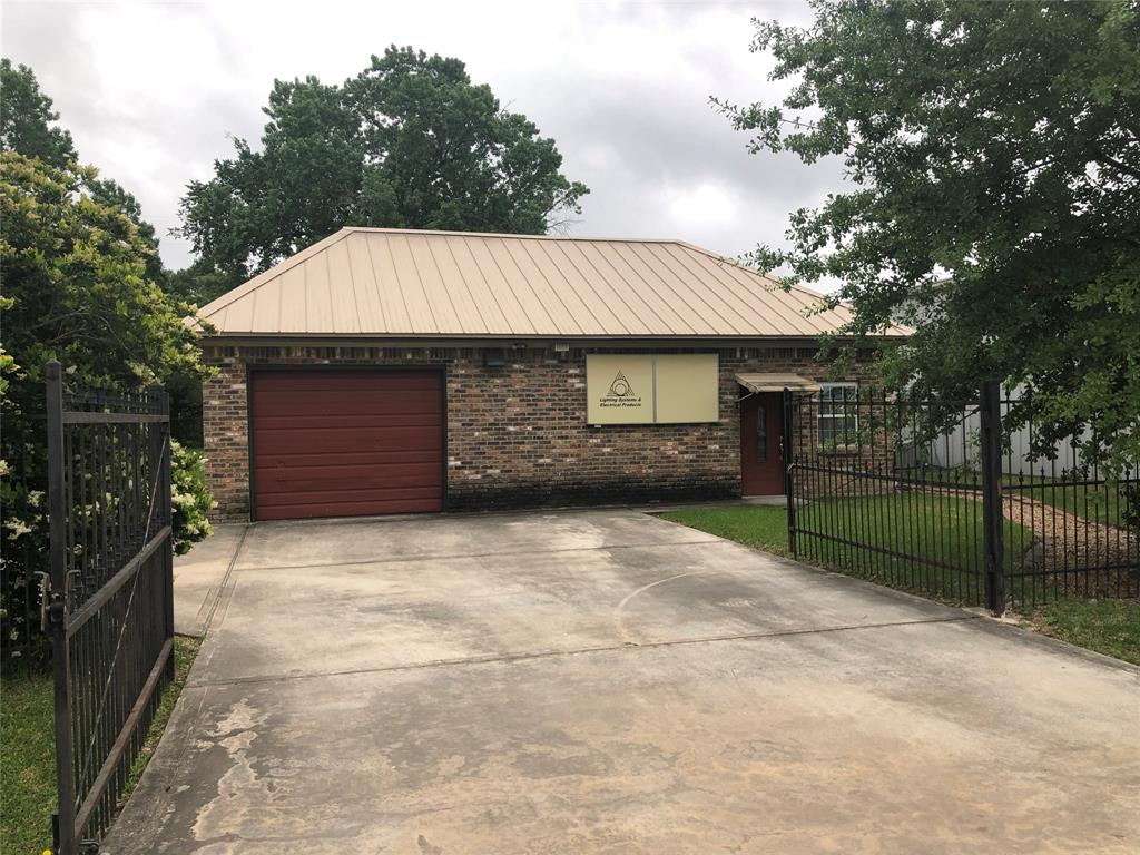 Location, Location , Location! Unrestricted property close to I-45 with a 1200 sq foot office/warehouse facility and 2 additional lots that can be developed. 3 separate tax ids. The building includes 2 private offices, a front reception area, a restroom, coffee bar, central office space and a conference room. The warehouse is approximately 400 square feet with an additional storage garage in the rear of the building. New Driveway/culvert in 2014, metal roof installed in 2016 and new A/C installed in 2013. On lot 37, there is an extra storage building.  Bring your business and have plenty of ground space to put your equipment or use the office/warehouse as income producing while you develop the other lots (residential or commercial). This area is surrounded by restaurants, gas stations and retail. Office is in use; please call for a showing before entering the property. Don't miss out, call today! *Information deemed reliable, but not guaranteed