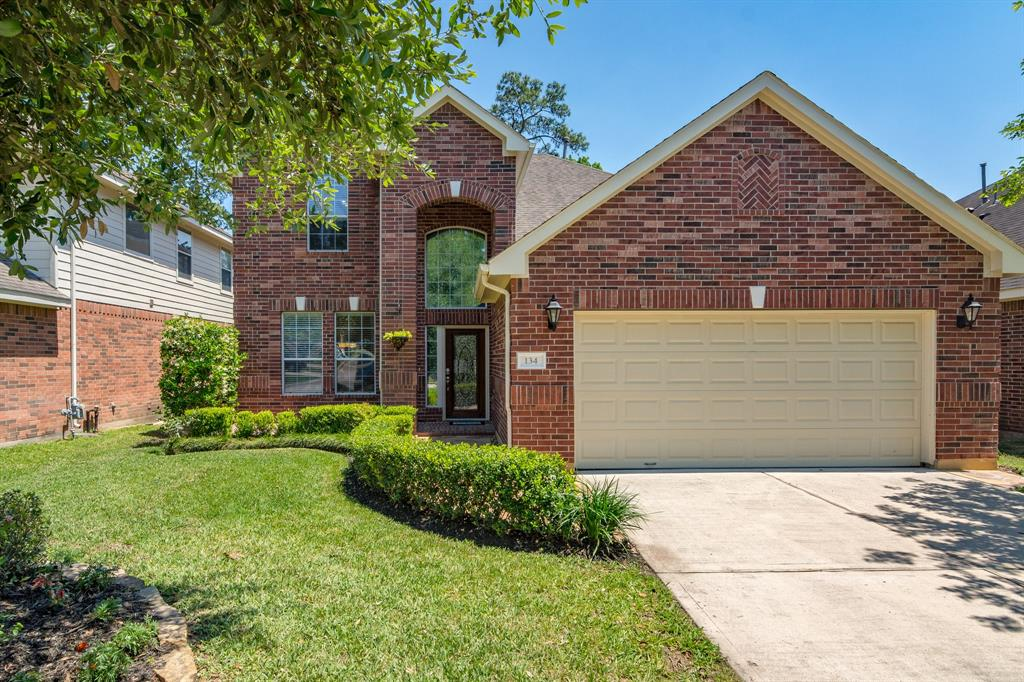 LOOK NO FURTHER - your dream home awaits!  This stunning 4 bedroom, 2.5 bath home is nestled on a peaceful street in Village of Sterling Ridge, boasting a large lot that backs to a greenbelt - NO BACK NEIGHBORS! Highly acclaimed Deretchin Elementary, McCullough, Woodlands High..This gorgeous home is immaculate inside& out was designed for maximum entertainment!  Families will adore the extended paved patio overlooking the lush backyard! Soaring two story ceilings welcome you home with rich hardwood floors that flow throughout the main living areas. The living room is bursting w/ natural light and opens nicely to the Kitchen & Breakfast.  A pristine Kitchen offers lovely quartz counter tops and sleek LG SS appliances! (FRIDGE & WASHER/DRYER INCLUDED!) The spacious Master Suite is nestled off the living area and features a spa like Master bath with jetted tub! A massive Gameroom, 3 spacious bedrooms & a full bath await upstairs! Sprinkler Systems & ENERGY EFFICIENT! Pets Case By Case.