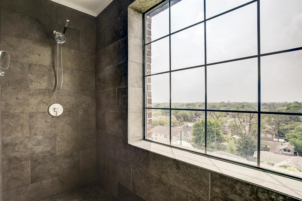 A better look at the oversized shower stall in the secondary bathroom.