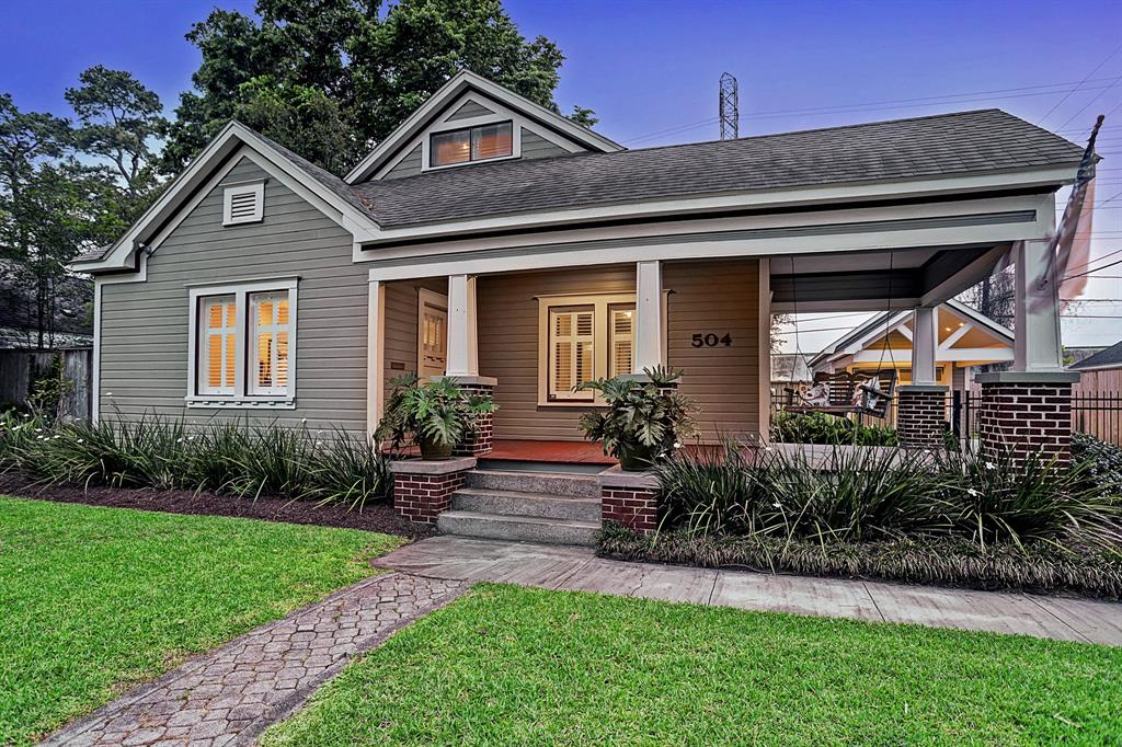 This Garden Oaks home is a rare find! The home has been retouched and renovated while maintaining its original charm. The layout flows beautifully upon entering a large living. An open kitchen overlooks two of the three wrap-around porches. The breakfast room and master suite were seamlessly added onto the home in 2015. The master suite is a relaxing hideaway complete with high ceilings, sitting area and a spa-like master bath. You'll love ending your day in the spacious backyard which features a large covered porch, turfed backyard and water feature. No detail has been overlooked! Highlights include :New 8' fence ,new addition to driveway, new garage and Porte cochere ('15) , new deck ('15) , new roof ('15) ,master bath and bedroom additions ('15) ,renovated kitchen/breakfast room ('15) , new hall bath ('15) , new sewer line ('15) , two tankless hot water heaters ('15) , surround sound , 2 nest thermostats, sprinkler system, LED lighting and security cameras. All info per Seller