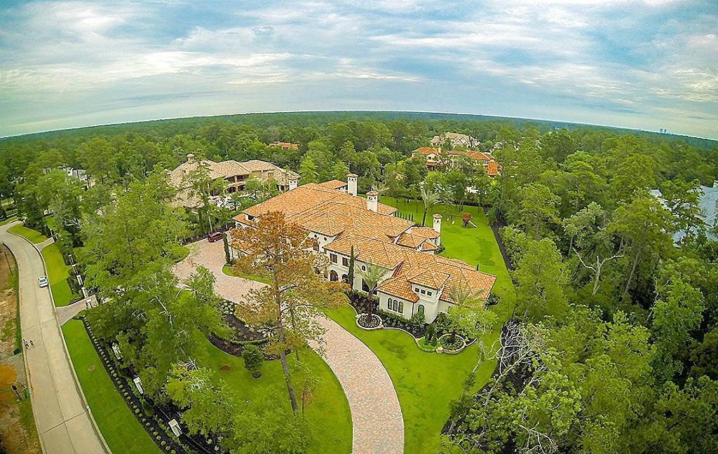 Sensational 90 W Grand Regency, Sprawling 1.7 Acre Estate with Private Gated Entry, Light and Soft Contemporary Design, Exceptional and Complete Remodel of All Interiors: All Flooring, All Stone Surfaces, All Lighting & All Fixtures. Valet Entrance though Double Cantera Doors Lead to Panoramic Foyer with Soaring Domed Ceilings, Masterpiece Iron Works along Cascading Staircase, 2 Story On Trend Palette Library, Formal Living w/ Seamless Glass Vistas of Pool & Gardens, Sophisticated Formal Dining, Modern Wine Grotto. Ultimate Entertaining both Formal & Casual! Open Living to Massive Chef Kitchen & Breakfast enjoy Outstanding Resort Pool, Spa, Never Ending Loggias & Expansive Grounds. 1st Floor Nearly 2500 Sq Ft Games Room with Full Bar and Adjacent Media Room. Opus Master Wing with Riveting Spa & Closets,  8 Elaborate Guest Suites (1st Floor 4; 2nd Floor 4) including a Separate Apartment. 2nd Games Room, Billiard, Gym, Playroom. 6 Car Climate Controlled Garage. High & Dry during Harvey.