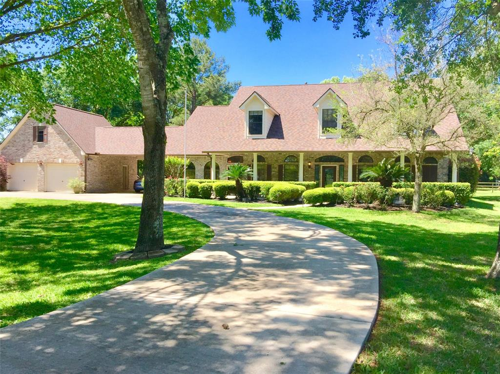 Versatile 3.95 Acre Country Estate in park-like setting w/mature shade trees. Beautiful, NEVER FLOODED 5 bdrm home w/upstairs game room. 5th bdrm 20'X22' used as a Media Room. High-end finishes & updates include Kitchen w/SS appliances, granite countertops, crown molding, slate & hardwood flooring, high ceilings & lots of natural light & lovely views! Backyard oasis offers a fully screened POOL/spa with a generous patio for outdoor entertaining. Porte-cochere & 2 Garage w/finished 2nd floor flex space, private entrance & half bath. Current owners have added many upgrades throughout. Fantastic add'l Workshop/Studio space w/AC at 2,472 SF. Horse friendly 3 stall barn, 2 pastures, 4 paddocks, & regulation fenced dressage arena. Gated driveway, fully fenced & crossed fenced w/attractive white & wood fencing. Unrestricted Neighborhood, Customize to suit your needs! Private country setting while close to Cypress shops & restaurants! Very close to 290 & 99 w/easy access to Katy & Woodlands.