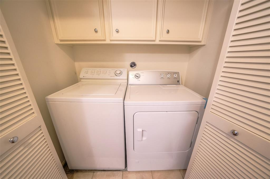Washer and Dryer included in unit