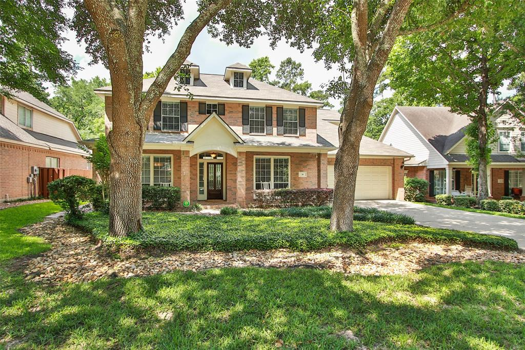 Fantastic location in the heart of The Woodlands! Sought after Peaceful Canyon is zoned to Galatas Elem. and The Woodlands High School. This updated David Weekley home offers a wonderful floor plan with tall ceilings, windows, large utility room and wait until you see the backyard! The huge covered patio overlooks a lovely pool/spa plus has plenty of yard for your pets on the wooded lot. No rear neighbors. It is truly an oasis style backyard with summer kitchen included. The interior has beautiful tile wood flooring downstairs, granite counter tops in kitchen, fresh paint, GE Profile Microwave & Oven, Kitchen Aide Dishwasher, Gas cooktop plus much more. Recently remodeled: master carpet,pool pump and heater, garage door opener,roof,water heaters,interior & exterior paint, both A/C condensers, evaporator coils,light fixtures, fans, rear windows and more. You will be happy to call this your new home.