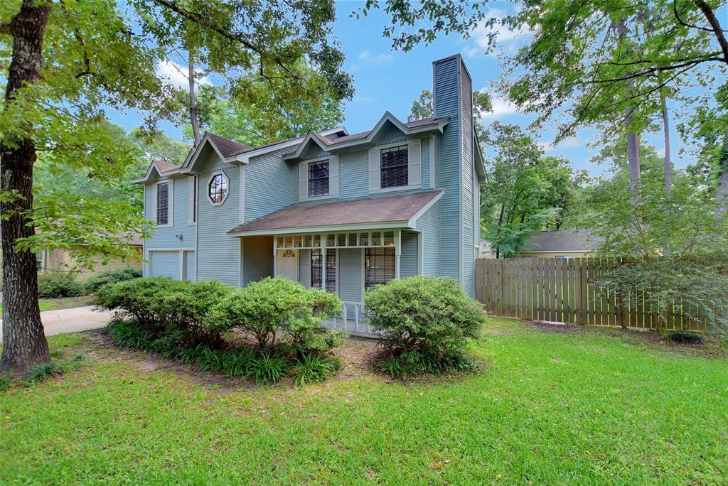 Nestled on a wooded corner lot, this immaculate 4 bedroom, 2.5 bathroom, home is high and dry from all previous floods. Interior has recently been painted and is ready for move-in. Backyard is fully fenced. Home is located only minutes from I 45 , Hardy Toll Rd , Grand Parkway , parks , restaurants , schools, churches and all that the upfront Woodlands location and has to offer! Low tax rate for a great value.  Conveniently located in front of the Woodlands. Excellent Conroe ISD schools. Quiet neighborhood, but close to stores and restaurants. Lots of home for the price.