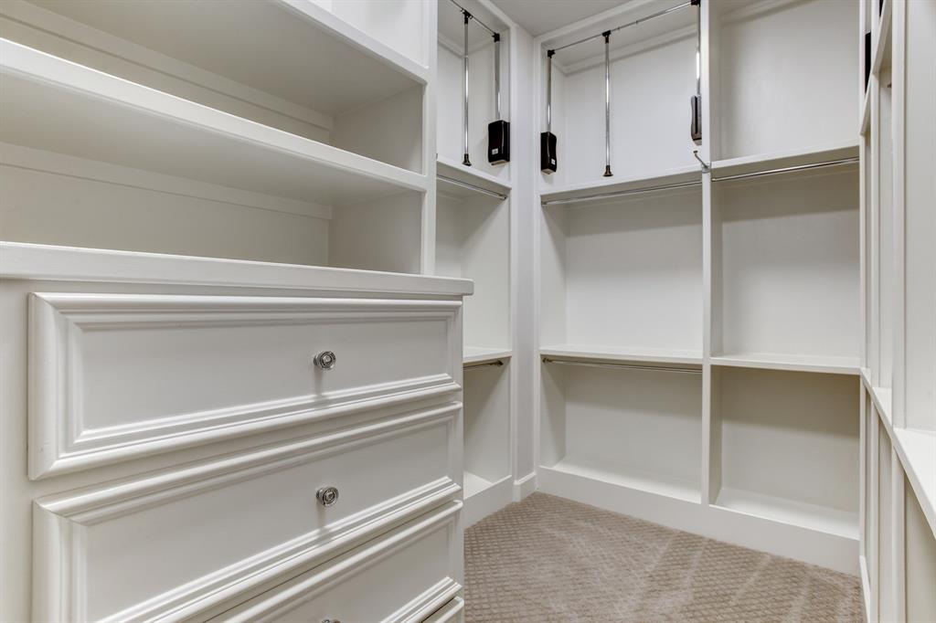 ... and a well outfitted walk-in closet.