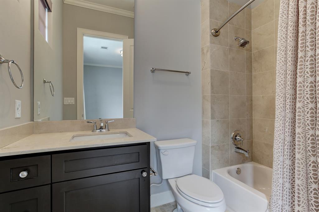The third floor guest suite bath.