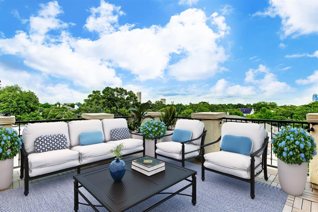 Talk about privacy and views!  This space has been virtually staged.