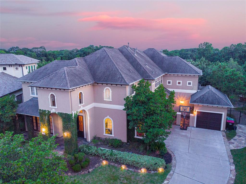 Welcome home to 23303 Two Harbors Glen! Sitting on an 18,400 sqft lot backing up to Meadowbrook Farms Golf Course, this 5,886 sqft Seven Meadows home is simply breathtaking! Offering 5 bedrooms, 5 and ½ bathrooms, a grand study, elegant dining room, a breathtaking sitting room, living room, and a masterfully equipped kitchen. The master suite is stunning, and the home also features a fantastic game room on the second floor. 23303 Two Harbors Glen features an incredible backyard escape complete with a 2nd floor balcony, ground level covered patio, multiple ceiling fans, ambient lighting, stellar landscaping, and a sparkling pool. This home has an astounding level of detail throughout including pristine flooring, top of the line fixtures and finishes, beautiful cabinetry, and gorgeous countertops. Zoned to Katy ISD and Seven Lakes High School - this Avalon at Seven Meadows home is an absolute gem. Schedule your private showing today!