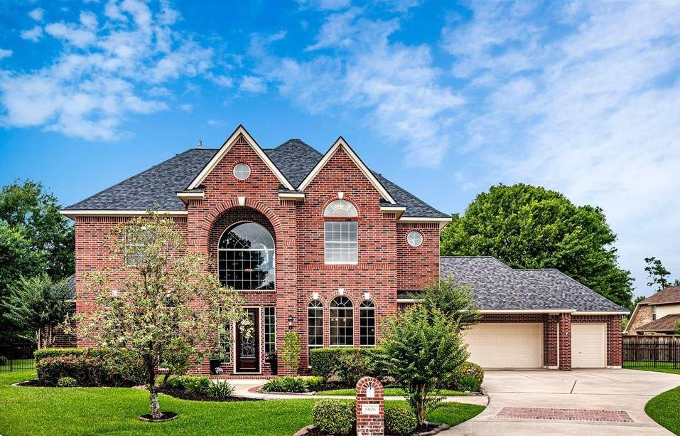 Custom elegance at its finest in this beautiful brick home.  Amazing 18,674 sf acre lot located on a cul-de-sac in The Links section of Windrose – a master planned golf course community.  Sweeping staircase is the focal point as you enter the home, while your eyes will be drawn immediately to the center formal living room, and the wall of windows beyond overlooking the covered back patio & pool.  Double French doors create privacy for the study.  A complete dream kitchen with HUGE center island, gas cook-top, double ovens and recent dishwasher.  Custom cabinetry with pull-outs creates fantastic storage space.  Butler's pantry leads to the formal dining room.  A spacious family room is open to the kitchen and breakfast area with more fantastic views of the backyard.  Second floor game room plus 4 secondary bedrooms and 2 full baths.  Interior has been freshly painted, plus all new carpeting.  HUGE backyard with pool/spa and plenty of extra space to play!  3-car attached garage