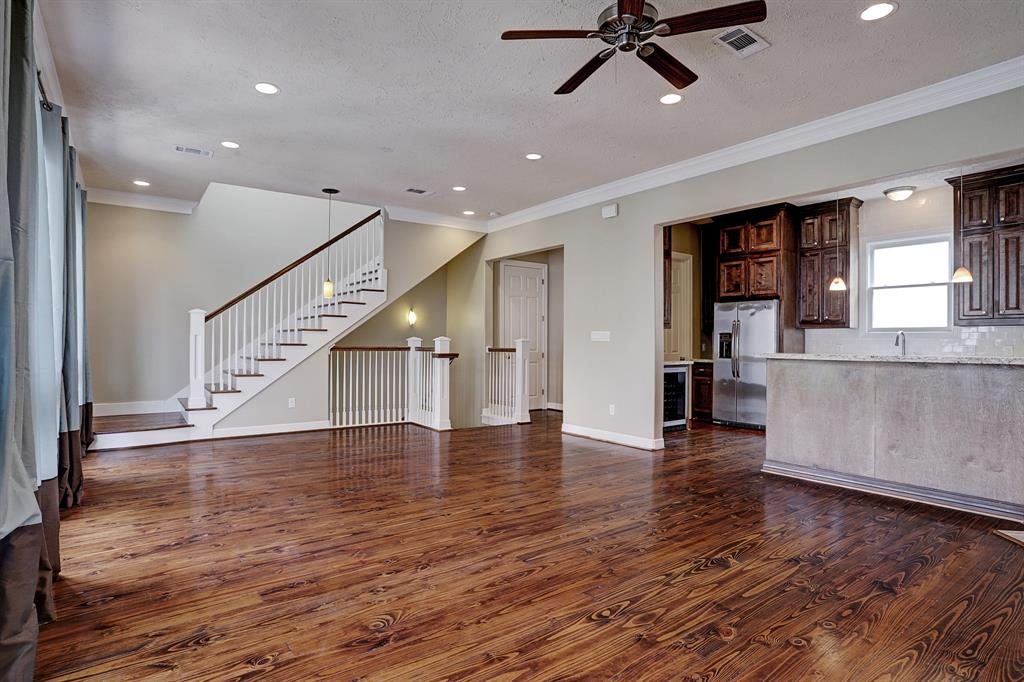 Beautiful wood pine floors in the entire townhome