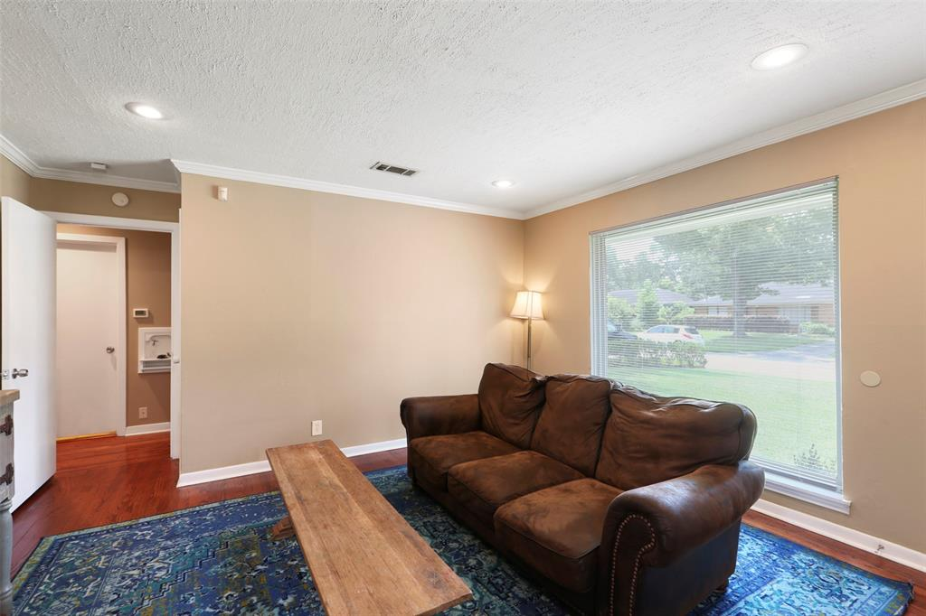 Comfortable family & living room area with a view towards the bedrooms.