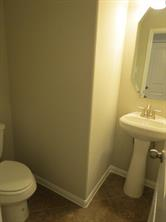 Powder Room downstairs with Pedestal Sink