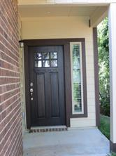 Covered front Porch and upgraded Mahogany Front Door
