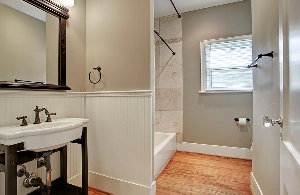 The second bath is very comfortable for kids, guests, or a roommate.