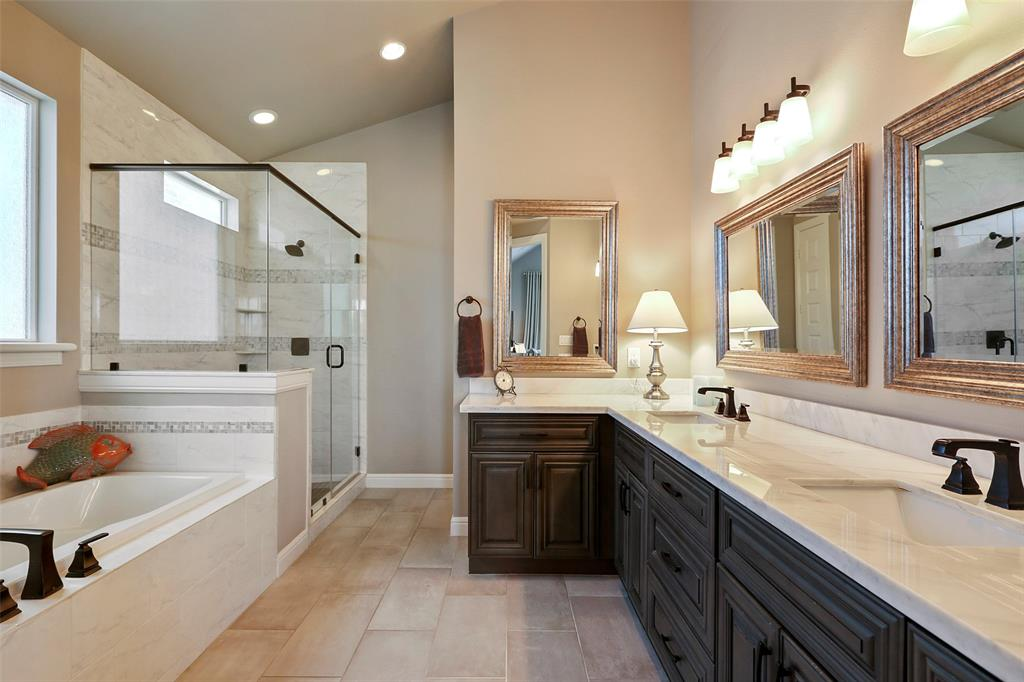 The spa-like master bath is a great space to start or end your day