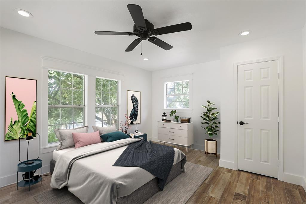 You're going to love the size of this secondary bedroom.  It has plenty of space for a guest bedroom or as a flex space for a home gym, study, or play room. This image has been virtually staged.