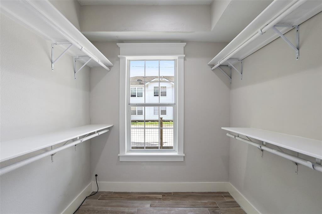 You're wardrobe will have plenty of room in this large walk-in closet located in the master suite.
