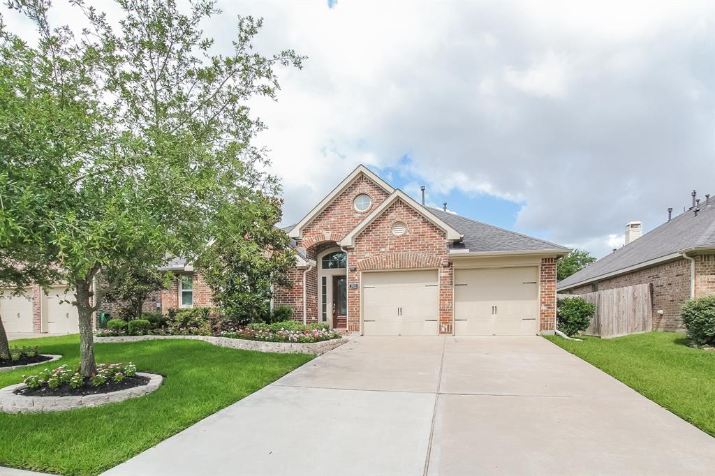 Built in 2011, this Richmond one-story home offers a fireplace, vaulted ceilings, granite kitchen countertops, stainless steel appliances, a den, and a two-car garage.