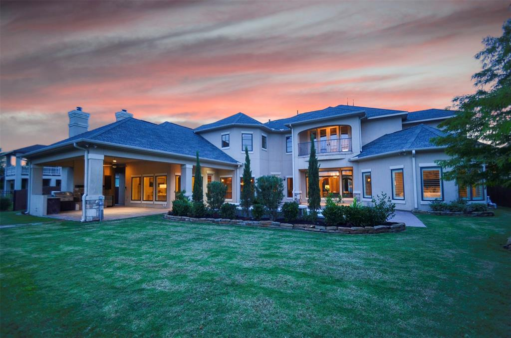 Absolutely stunning Jim Frankel custom built home with all of the bells and whistles! Located in The Reserve of Spring Green with gorgeous lake views. This beautiful property has high end finishes throughout starting with the front door. Enter into a beautiful rotunda entrance with two story ceilings. You will be immediately greeted by a spacious formal dining room and high end study. This home has an amazing floor plan with a formal living space with a fireplace and custom built-ins with floor to ceiling windows overlooking the backyard with a new pool and the lake. Continue into the kitchen that is open to the living area, perfect for entertaining! This island kitchen comes equipped with high end wolf appliances and a spacious breakfast bar! The master suite is a dream with an over upgraded master bath. Upstairs you will find a spacious game room/media room. The backyard oasis is adorned with a huge covered patio, out door fireplace and functional kitchen! This is truly a dream home!