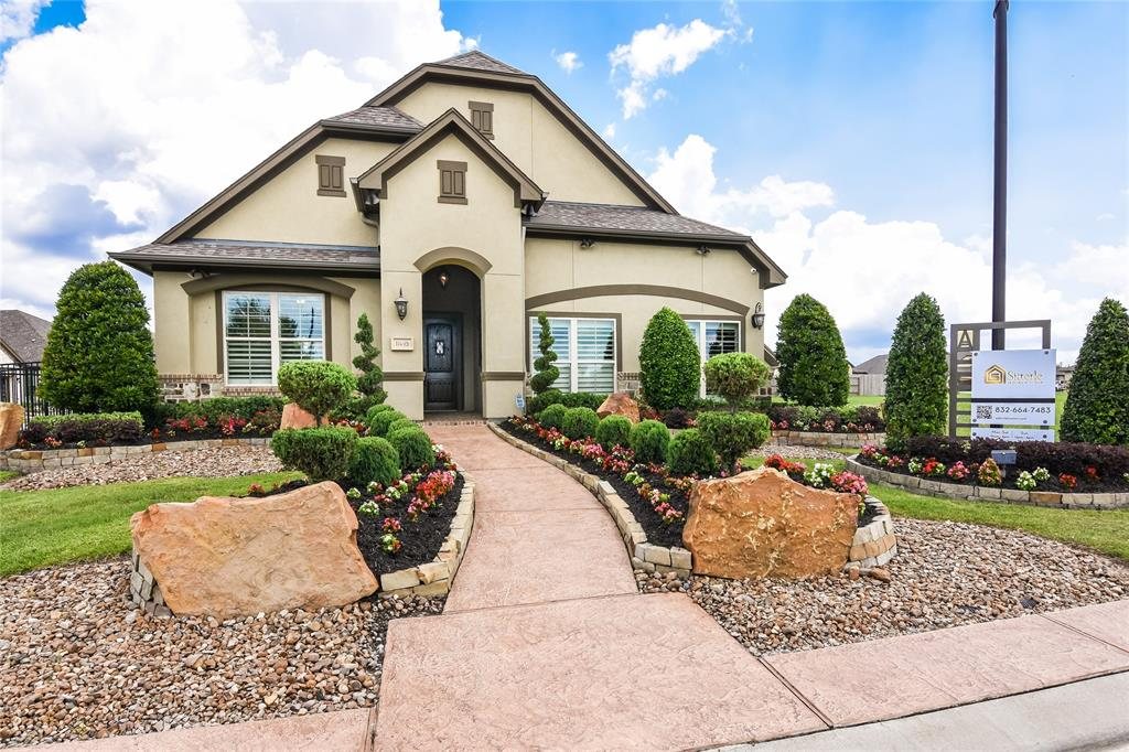 "Stunning ""model"" home in The Lagos at Aliana! Awarding winning Builder in Aliana! Desired Corner Lot; featuring the Monza floorplan. Entry features Hardwood Floors; Wood Beams at entry and Dining; High Ceilings, and 8 FT doors! LUXE Custom Wine Room with Stone Wall! Master Suite on first floor. Master Bath features double sink, Separate Bath & Shower.  Cirrus Air whole home purification, water softener, Tankless Water Heater, and Thermador Kitchen Appliances (includes Refrigerator). Over-Sized Utility Room featuring a pet bath! Outdoor features fireplace and pergola. Make this dream home yours today! Home available with Lease back thru 09/2020."