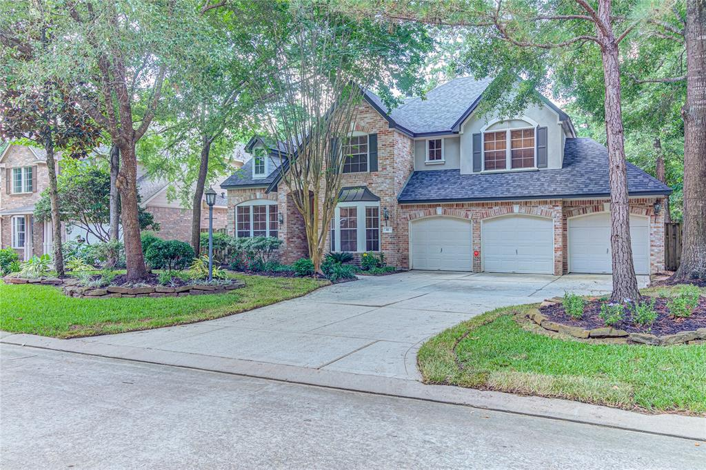 Gorgeous 6 Bedrooms, 4.5 Bath home in Villages of Alden Bridge. Zone to the award winning schools of the Woodlands. Home features include Green Belt behind home, pool with whirl pool, brand new roof(June 2019), 2016 A/C's, wood floors, large master suit and bath with large closet. Three car garage, lots of cabinets in the kitchen with stainless steel appliances includes refrigerator. Completely ready for you to move in and begin your new life style.