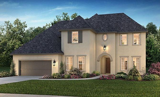 Shea Homes 6030 Floor Plan. This French Country inspired exterior 2-Story home boasts  3,965 sq. ft after the addition of a 19' x 17' media room.  Other great features: 4 Bedrooms ( 2 Down ) all have En-Suite Baths, a 2-Story Foyer, Study , Oversized Laundry, Walk-in Pantry, Game Room, a Covered Outdoor Living space and a 3-car Tandem Garage. Wood flooring throughout downstairs, with exception of carpet in the bedrooms and tile in the wet areas.  Large, deep yard for future pool.