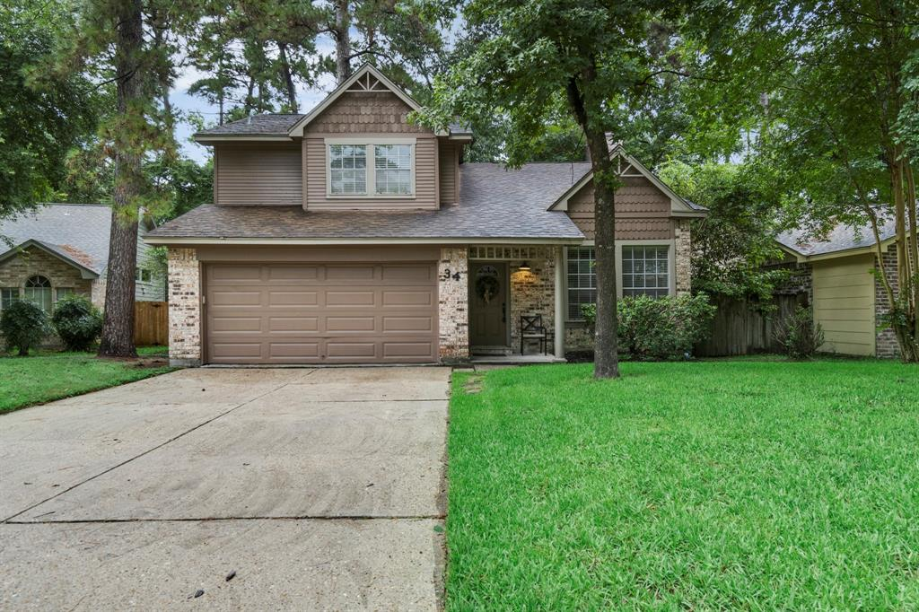 BEST VALUE in the area! NEVER FLOODED! NEW ROOF & NEW SLIDING DOOR COMING THIS WEEK! This home will check all your boxes - located in prime Woodlands location & situated on cul-de-sac street, backing to true greenbelt! Minutes from Woodlands amenities, easy access to I-45/medical district & walking distance to popular park! Recent upgrades include: fresh interior paint, all new light fixtures, brand new gas range in kitchen, granite countertops in kitchen & master bath! Great flow and function in this floor plan with a family room accentuated by a brick fireplace, formal dining room just off of the kitchen, making meals and dinner parties a breeze! Large open kitchen/breakfast room with tons of cabinet and counter space, highlighted by picturesque view of backyard! Large MBR with newer carpet, ceiling fan, high ceilings + dual vanity in bath. Spacious secondary BR's up w/game room/loft. Great storage throughout! Low taxes & zoned to top-ranked schools! READY FOR IMMEDIATE MOVE-IN!