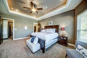 The tray ceiling offers unique lighting and creates a peaceful ambiance.