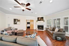 Wood floors and neutral paint colors will coordinate with any decor! Double doors open to the master suite.