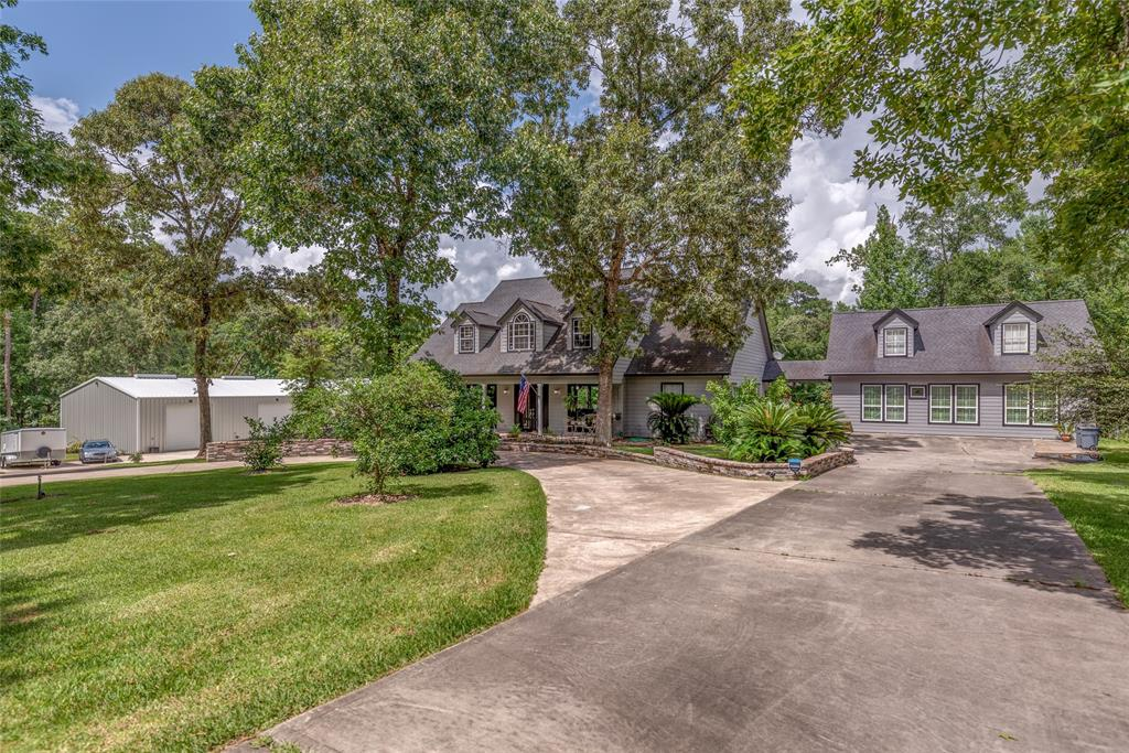 """Relaxing home w guest-house designed for senior-living on 2.84 acres. 6BR-5.5BA-3Kitchens-3Patios. Featuring vintage oak wood floors & staircases, 1890's ceiling tins and stained glass! Open-concept living. Lrg kitchen w stained glass windows, island, built-in refrigerator and Seller including a new Wolf 60"""" double oven range. Master suite w walk-in closet w built-ins, en suite bath w walk-in shower, heated soaking tub.Two other bedrooms down, one w en suite bath w 1920's pedestal sink, tile walk-in frameless shower. 2nd floor open-concept game room w nooks for storage, powder bath, pantry, 60's appliance kitchen, utility rm & 4th bedroom w private bath & frameless shower. 1550 sf guest-house w stained glass, full kitchen, 2 bedrooms w full baths, wheel-chair accessible and private patio! 2500 sf elevated brick patio w 1920's iron fence, a covered patio w Big Ass fan for outdoor dining. 4,000sf steel storage bldg w light, AC, epoxy floor, 33Kw all-site diesel generator, all lights LED."""