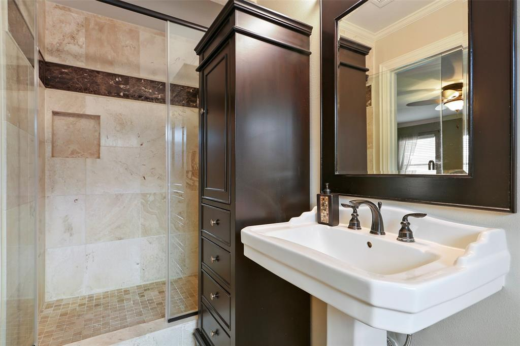 Updated master bath with large shower.