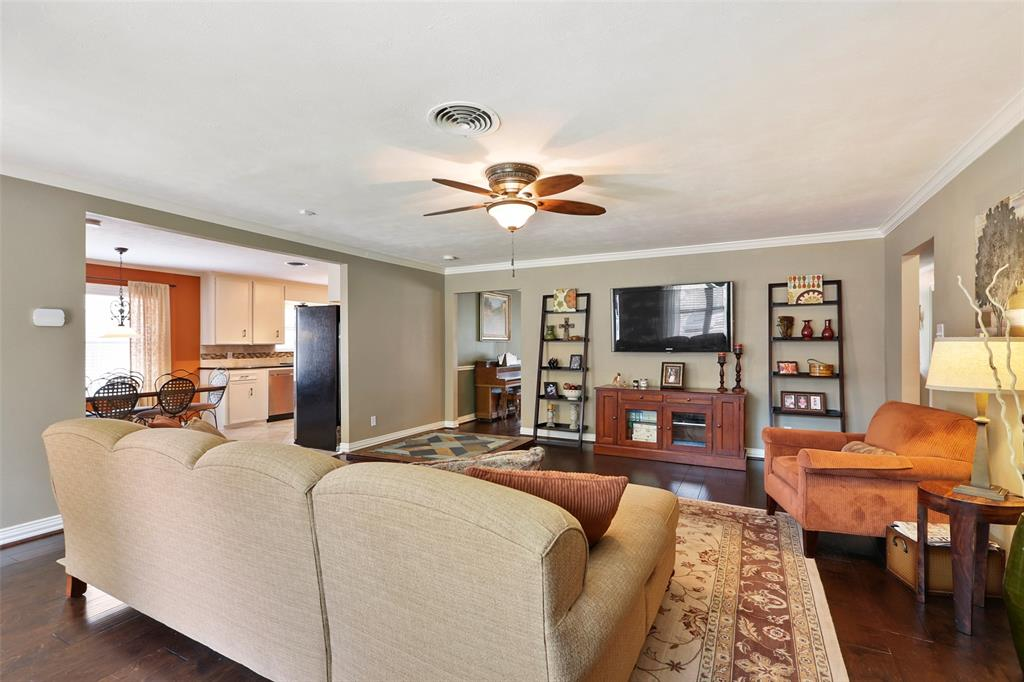 The living room is the perfect space to relax with your family or watch the big game.