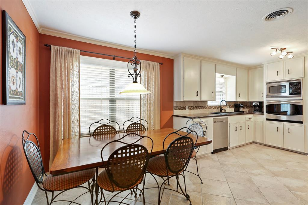 The updated kitchen also has a large breakfast space.