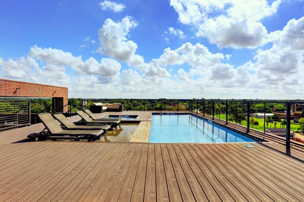 For the encore ... the rooftop deck and pool heated year round!  This space has