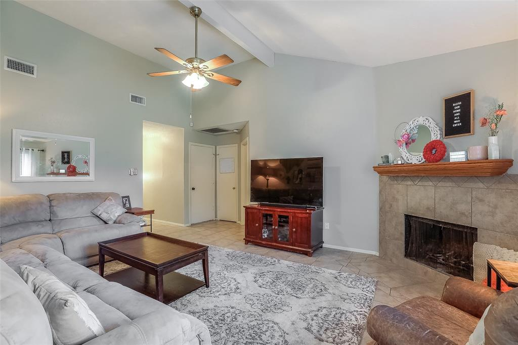 The spacious living room is a great space for relaxing with your family or watching the big game.