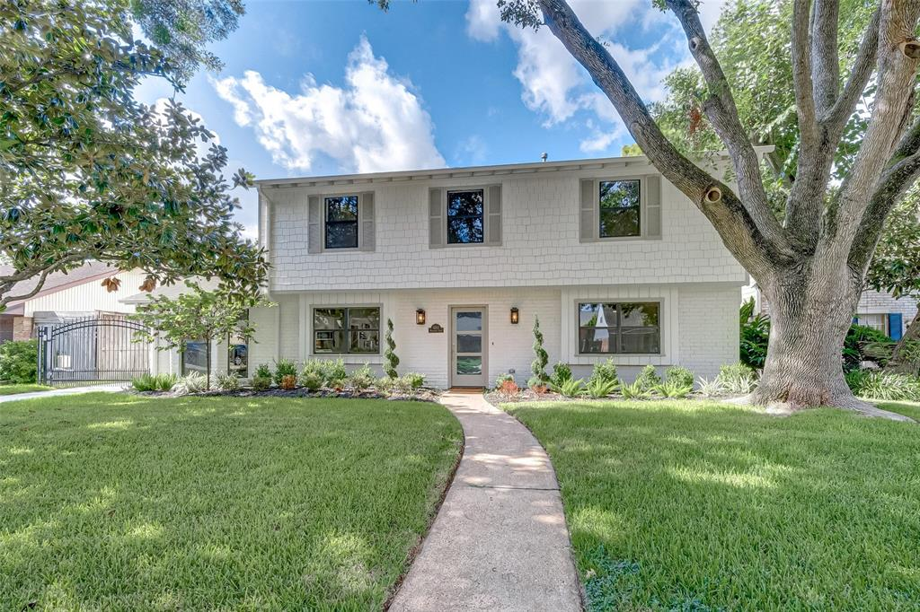 """Gorgeous remodel on Cul de sac zoned to premier Spring Branch ISD schools. No stone left un-turned in this 2019 updated home. Ground floor has expansive, open areas joining state of the art kitchen, two family gathering rooms, breakfast and wine nook. Quality finishes include Quartzite countertops, high end KitchenAid appliances and top grade cabinetry. Light filters in to provide a radiant setting via sky lights and french door overlooking pool and patio. Heated swimming pool with hot tub (2019) along with summer kitchen add to this """"good living"""" setting. Master Suite is downstairs with beautiful finishes and fixtures. Four bedrooms upstairs with new neutral carpet. Extra bonus feature is a gated driveway. Walk to Memorial Middle School, Memorial City Mall and Memorial Herman Medical Center . Short hop to City Centre and Town and Country Village Shopping and Dining. Quick access to I-10 and Beltway 8 to access all that Houston has to offer. Move In Ready!"""