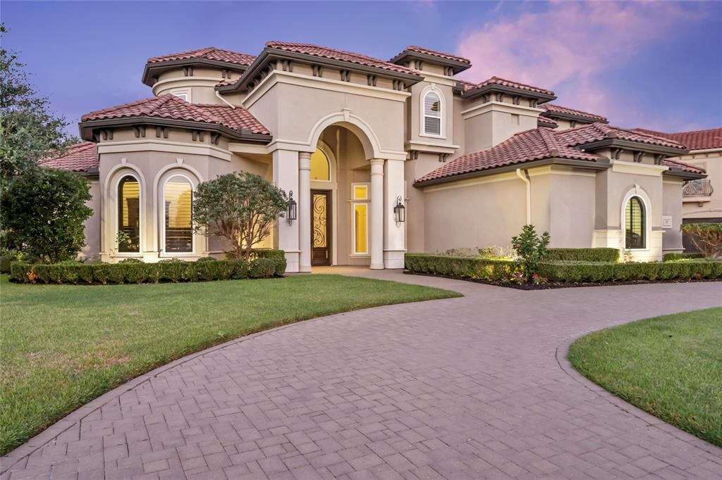 *RARE OPPORTUNITY to OWN a TRUE CUSTOM HOME built by award winning WESTPORT homes within the Gated & Exclusive 20-home section of Crescent View Estates in Riverstone *This Mediterranean Style Masterpiece w/ POOL, sits on an oversized lot with NO BACK NEIGHBORS, is over 140 ft wide at the front and fits the grand circular driveway perfectly *With 5BR (2BR down) plus Flex Rm, Game & Media Rms, 5.5 BA & 4 car garage, this nearly 6,800 sf home is the perfect solution for any large or multi-generational family *The 2nd flr features a suite currently used as a 2nd MBr and all upstairs baths have newly installed walk-in showers w/ custom glass enclosures *The gourmet kitchen contains high-end appliances, endless cabinets & counters and a large curved granite high bar; perfect for entertaining *Step outside to relax in your private resort style rear yard, complete with pool, hot tub, outdoor kitchen & lush landscaping***Be Sure to watch the Listing Video on HAR***MUST SEE TO APPRECIATE!