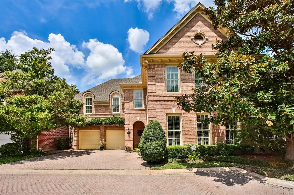 This is a rare opportunity to own 1 of 10 custom homes in this gated community between Tanglewood and Galleria and located within walking distance of the Galleria as well as BLVD Place. Designed for entertaining, the open concept kitchen and family room have inviting views of the backyard paradise that awaits you. This pristine home offers many upgrades including a master retreat with a luxurious spa bathtub, double vanities, double closets plus two additional closets; triple coving; plantation shutters; in-ceiling speakers; wainscoting in the formal dining room and entrance foyer; solid mahogany custom French doors; Marvin double-pane windows; custom Hunter Douglas shades in the family room and many more upgrades. An additional room in the large master suite could be used for a nursery, sitting, reading or music room.  A 3rd living area off the family room could also serve as a sunroom or study/library.